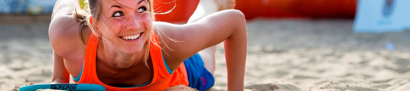 Margot van Doorn NK Beachtennis 2014